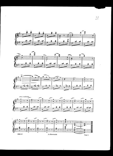 Marjolaine, La, potpourri for piano-forte