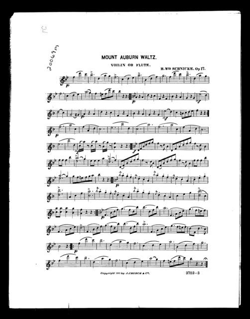 Mount Auburn waltz