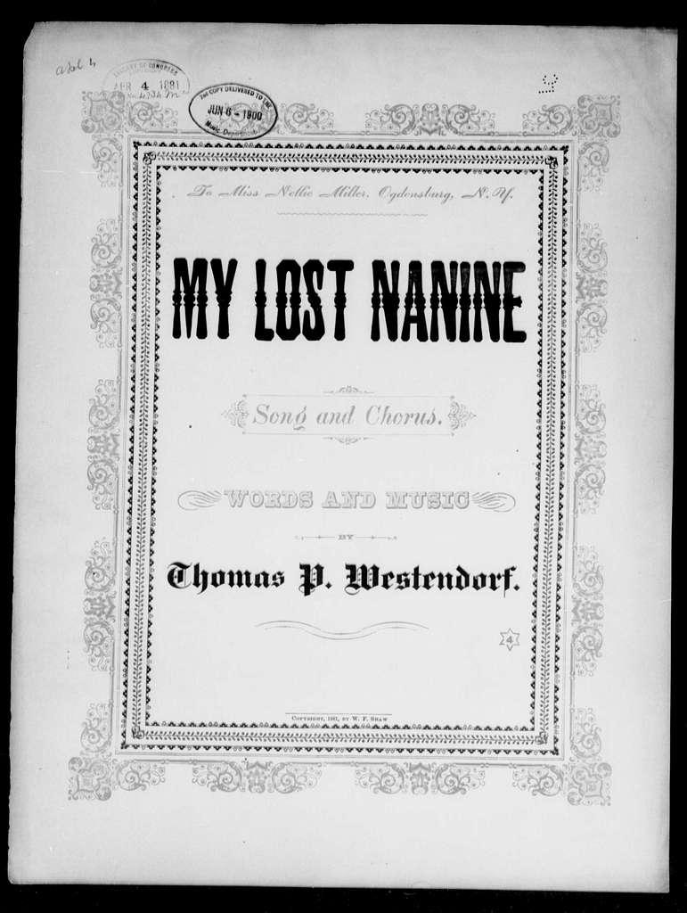 My lost Nanine