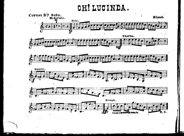 Oh! Lucinda [orch parts]
