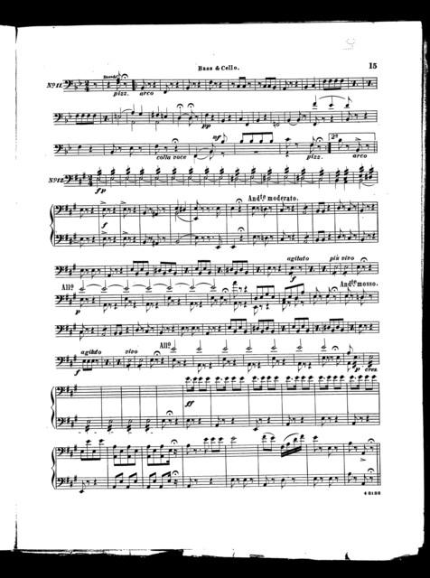 Olivette, overture [bass & cello]