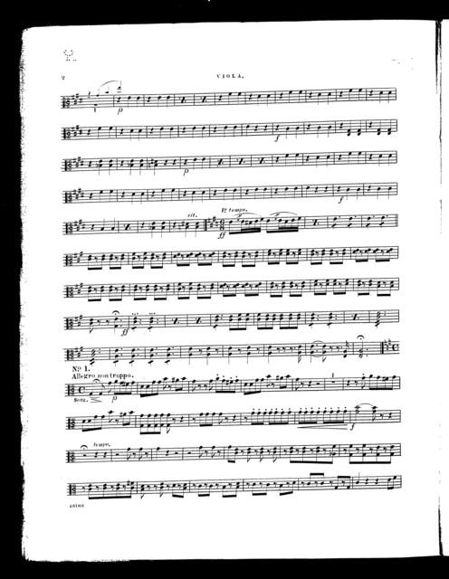 Olivette, overture [viola]