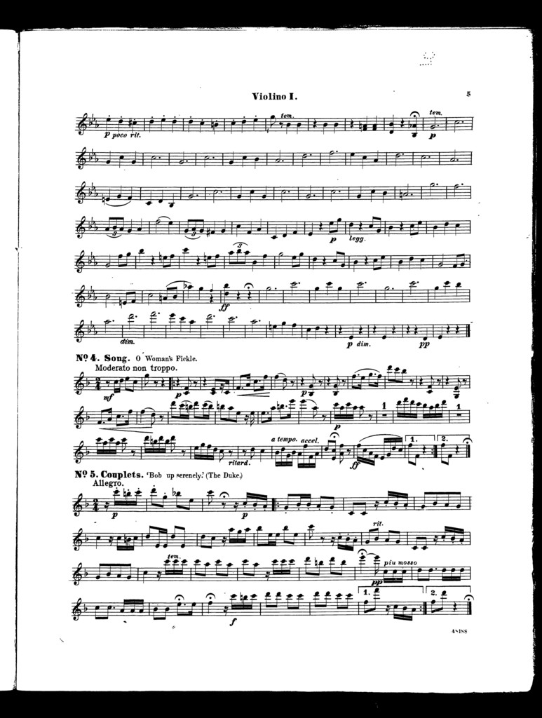 Olivette, overture [violino I]