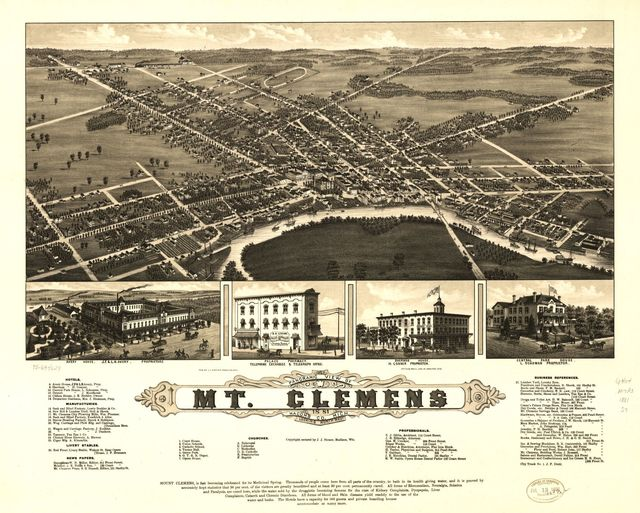 Panoramic view of Mt. Clemens 1881, Macomb Co., Mich.
