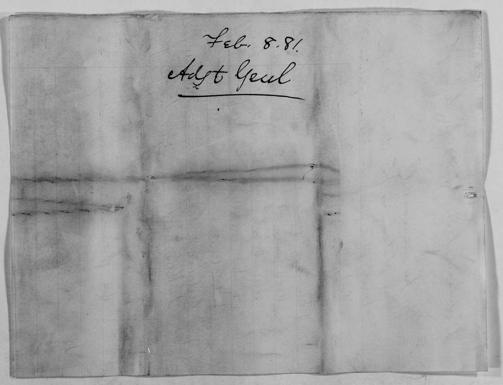 Philip Henry Sheridan Papers: General Correspondence, 1853-1888; 1881; Feb. 5-10