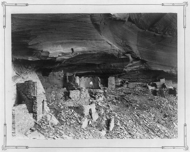 Ruins in mummy cave, Canon del Muerte, Arizona