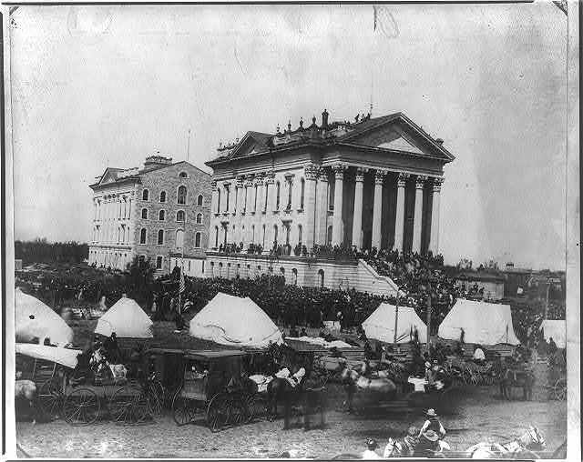 Soldiers and sailors' reunion, at the State House, Topeka, Kansas, Sept. 15, 1881
