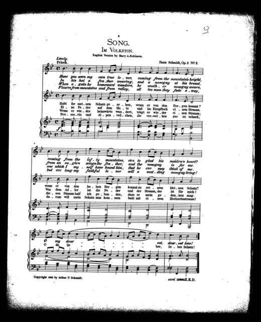 Song - Im volkston