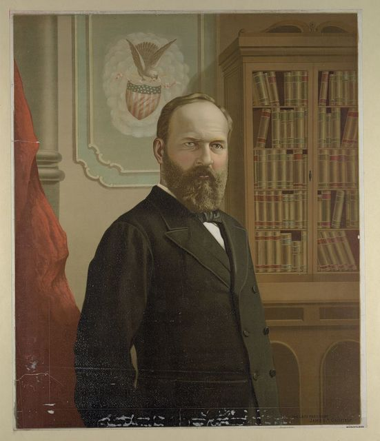 The late president James A. Garfield