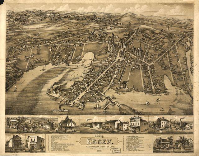 View of Essex, Centerbrook & Ivoryton, Conn. 1881.