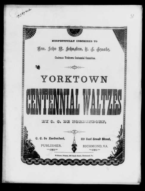 York-town Centennial waltzes