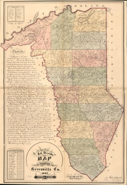 A full descriptive map and sketch of Greenville Co. /