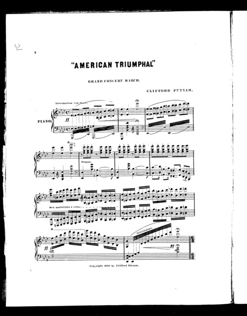 """ American triumphal"" grand concert march"