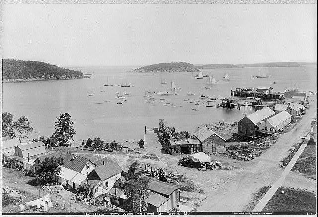 Bar Harbor from West End Hotel, Mt. Desert, Maine