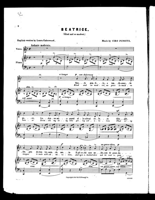 Beatrice - Kind and so modest