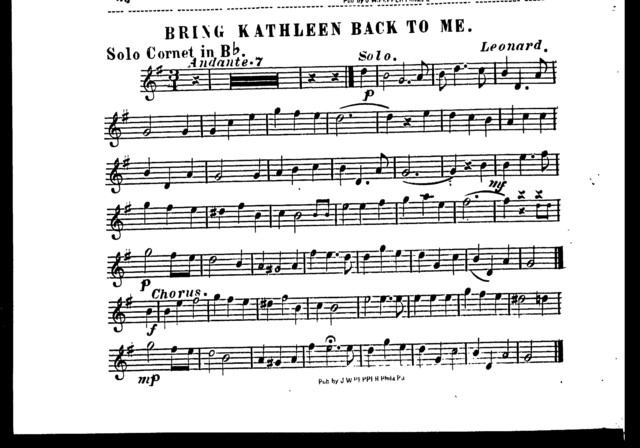 Bring Kathleen back to me [orchestra]