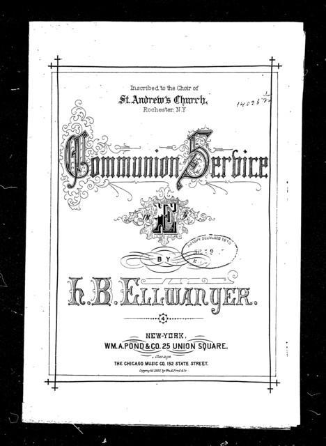 Communion service in E-flat