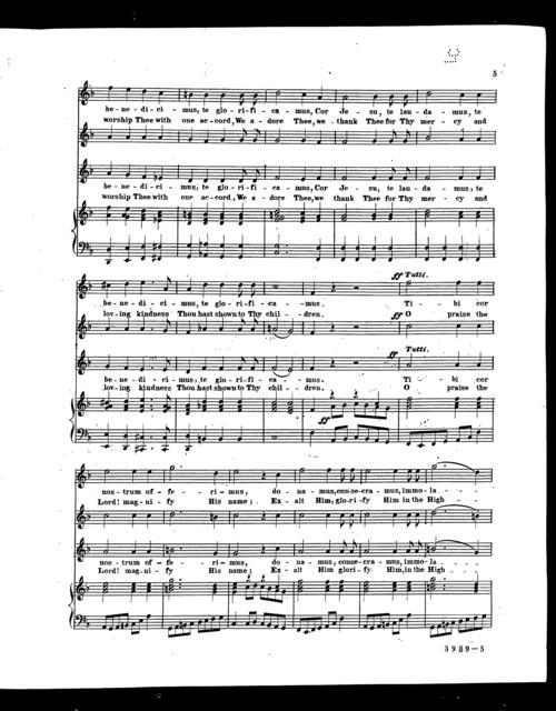 Cor Jesu, te laudamus - O Lord, we praise thee