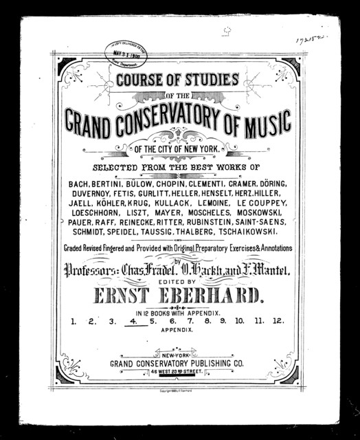 Course of studies of the grand conservatory of music, book 4