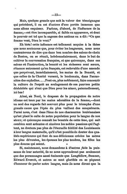 """""""De l'utilité de la langue française aux Etats-Unis"""","""