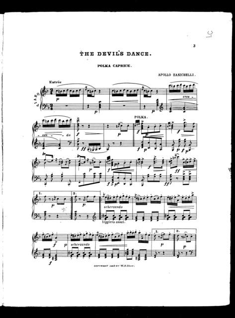 Devil's dance, The; Polka caprice