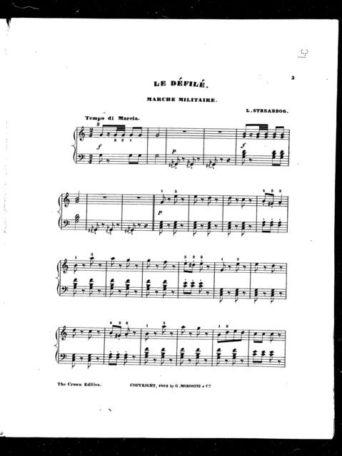 Df̌il,̌ Le; Marche militaire [from] 3 Esquisses musicales