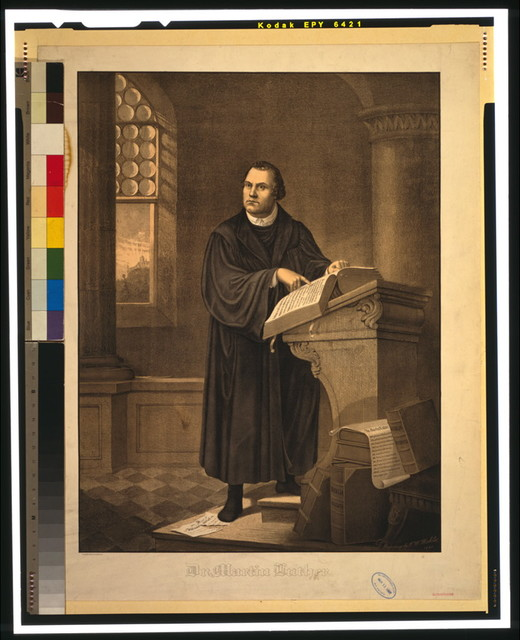 Dr. Martin Luther / The Milwaukee Litho. & Engr. Co. ; original painting by F.W. Wehle, 1882.