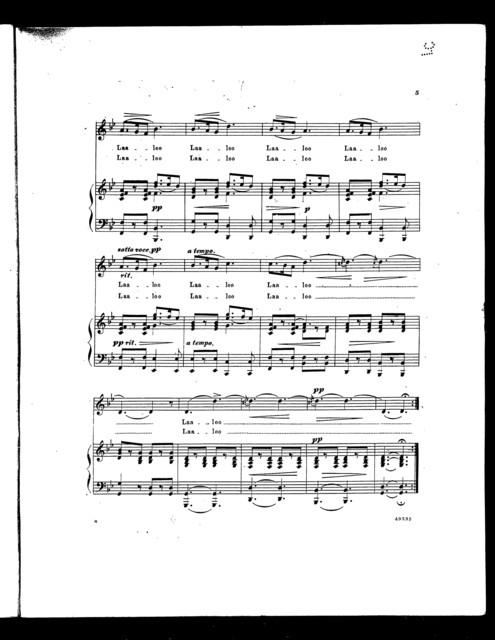 Egyptian lullaby; Laaloo [from] Zenobia