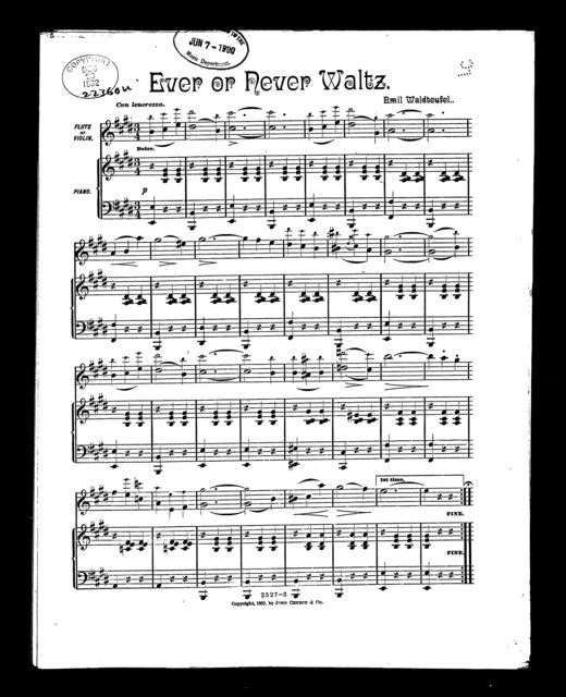 Ever or never waltz