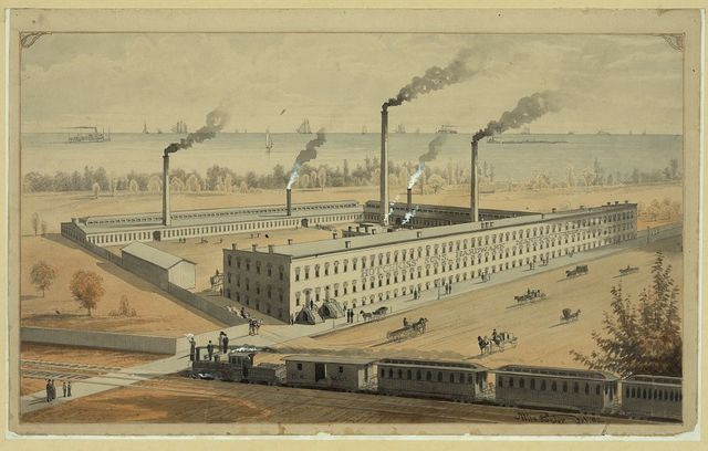 [Factory of Hotchkiss' Sons, hardware manufacturers] / Wils. Porter, del., '82.