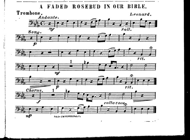 Faded rosebud in our Bible, A [orchestra]