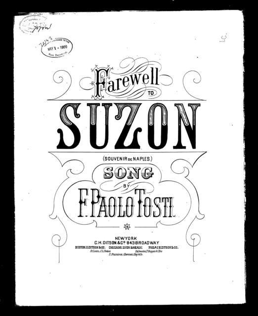 Farewell to Suzon; A Souvenir of Naples