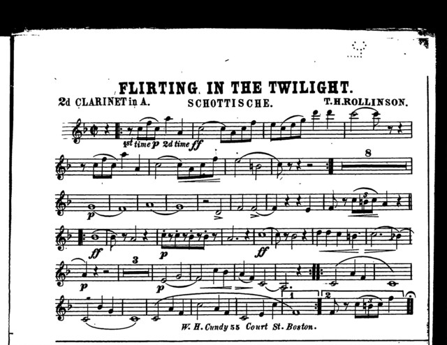 Flirting in the twilight [and] Too sweet to live; Schottische