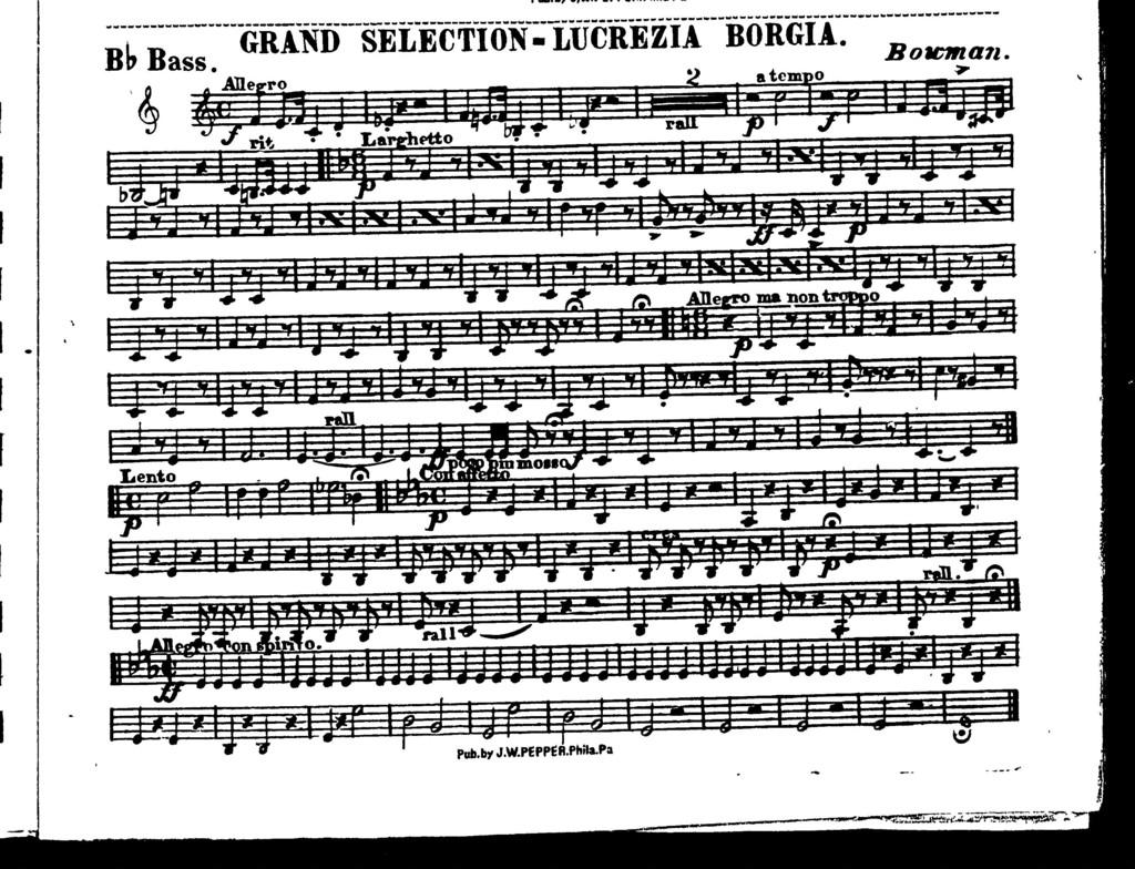 Grand selection; Lucrezia Borgia