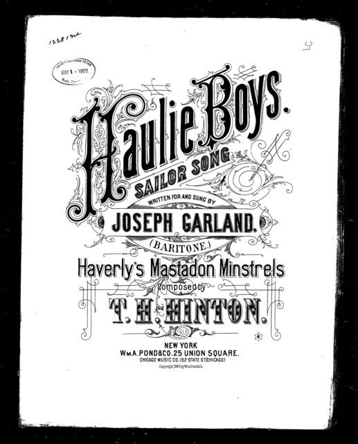 Haulie, boys! Sailor song