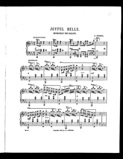 Joyful bells; Morceau de salon