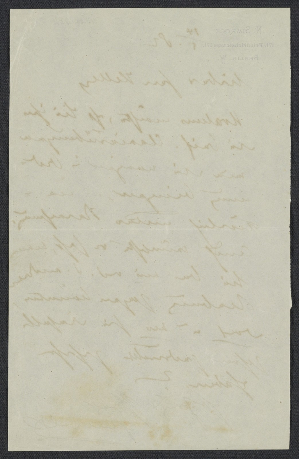 [Letter, 1882 May 14, Berlin to] Keller