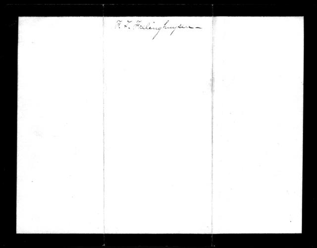 Letter from Frederick T. Frelinghuysen to Alexander Graham Bell, January 7, 1882