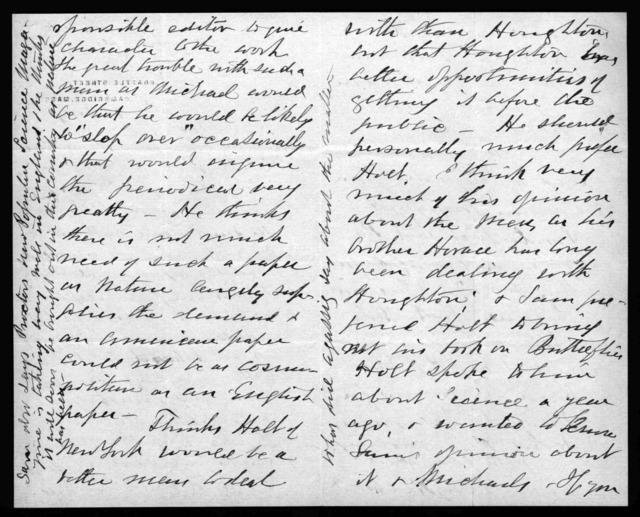 Letter from Gardiner Greene Hubbard to Alexander Graham Bell, July 11, 1882