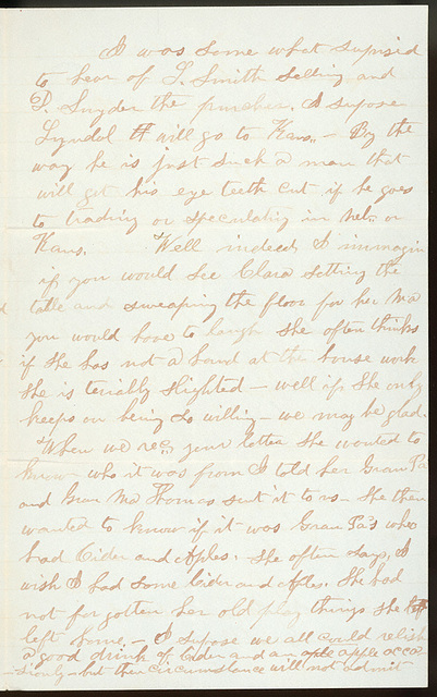 Letter from Giles S. Thomas to Thomas Family, March 19, 1882