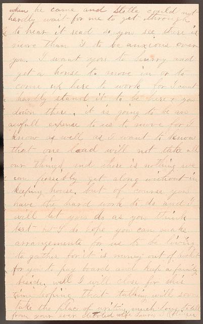 Letter from Laura I. Oblinger to Uriah W. Oblinger, January 29, 1882