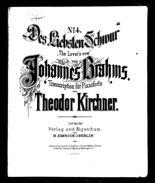 Liebsten schwur, Des - The Lover's vow