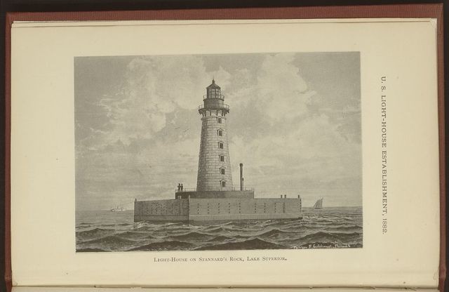 Light-house on Stannard's Rock, Lake Superior