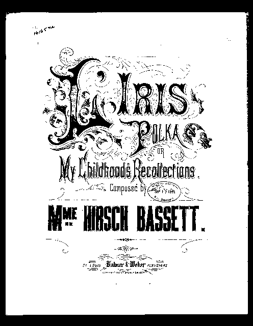 L'Iris polka; or, My childhoods recollections