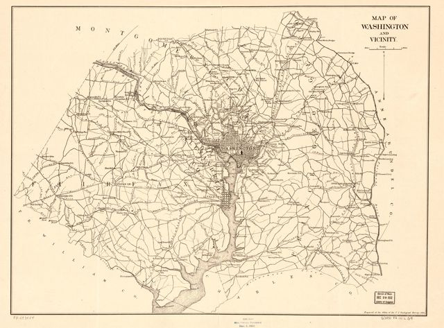 Map of Washington and vicinity /