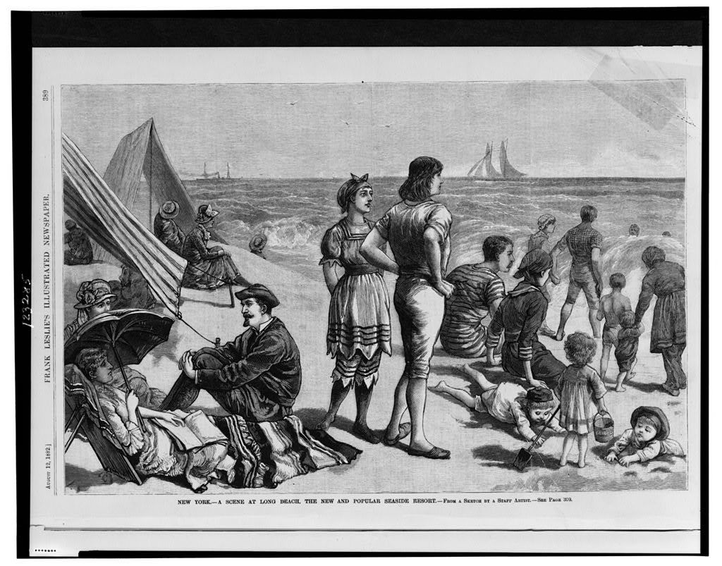 New York - a scene at Long Beach, the new and popular seaside resort / from a sketch by a staff artist.