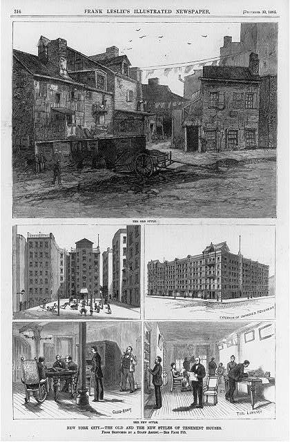 New York City - The old and the new styles of tenement houses / from sketches by a staff artist.