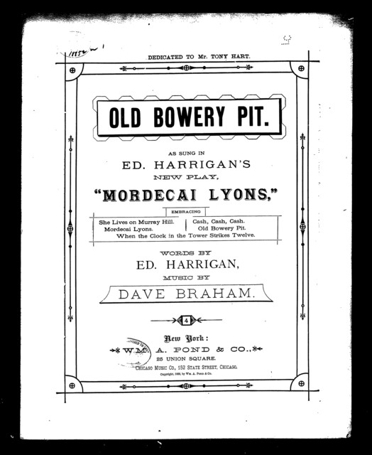Old bowery pit, The [from] Mordecai Lyons