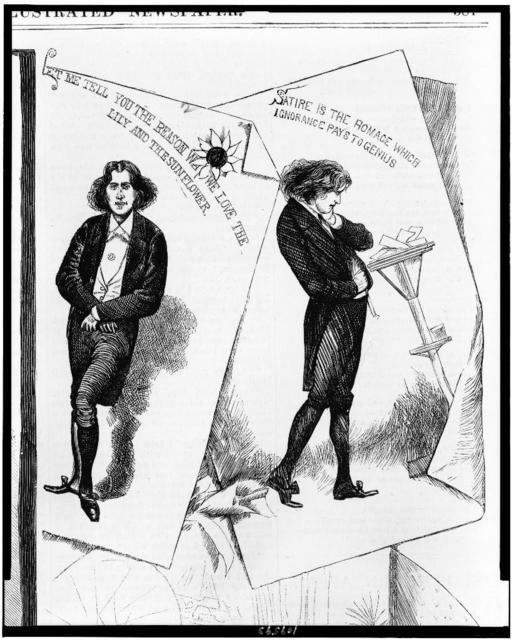 Oscar Wilde, the apostle of aestheticism / from sketches by a staff artist.