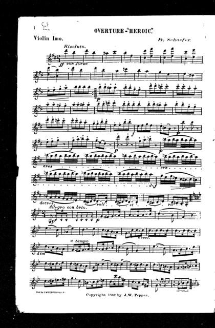 Overture; Heroic [orchestra]